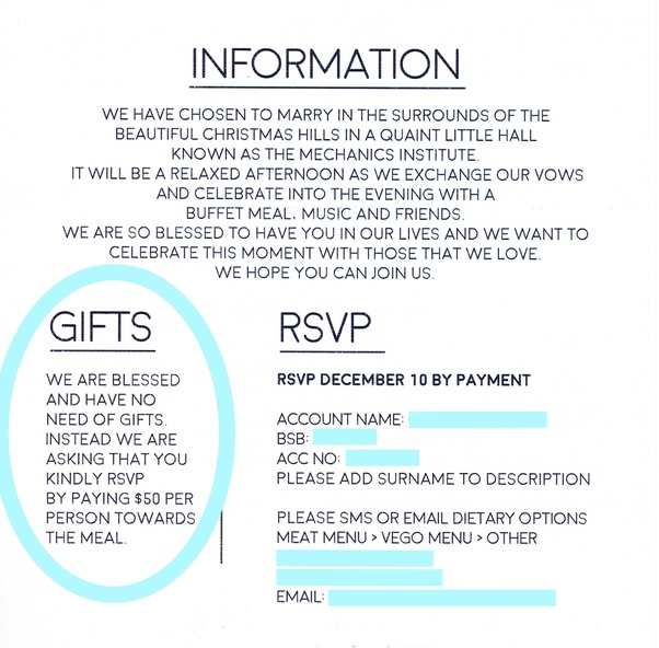 Typical Cash Wedding Gift: How Should I Word A Wedding Invitation Asking Guests To