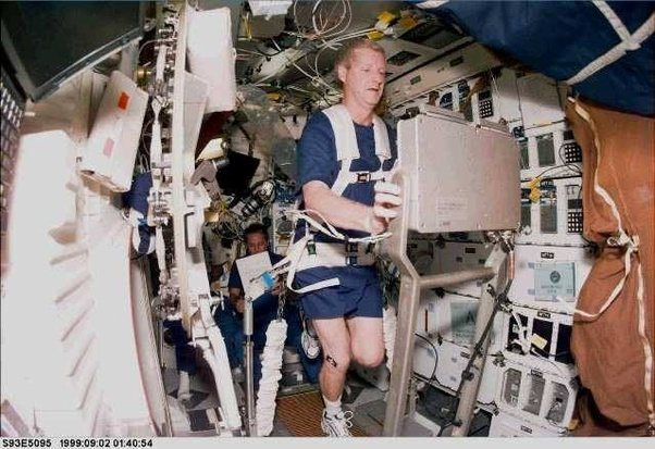 how astronauts exercise in space -#main