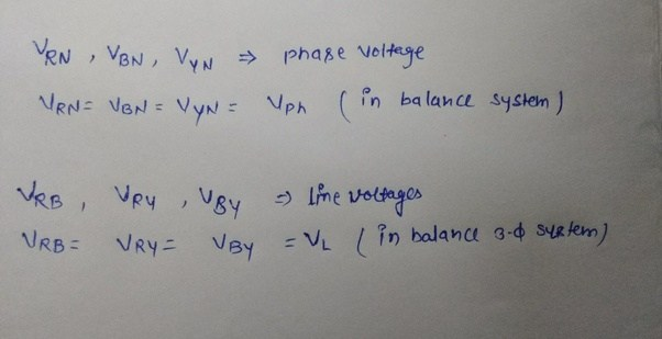 how to know if phase or line to line voltage