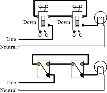 How to identify the mon    wire    in a threeway    switch
