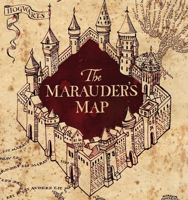 When examining the Marauder's Map, how did Fred and George ... on secret s map harry potter, map in game of thrones, map harry potter books, fictional map harry potter,
