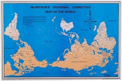 Is it true that Australians use upside down world maps with