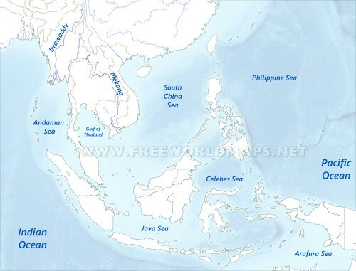 Map Of Asia Seas.Why Should Southeast Asian Countries Unite Quora
