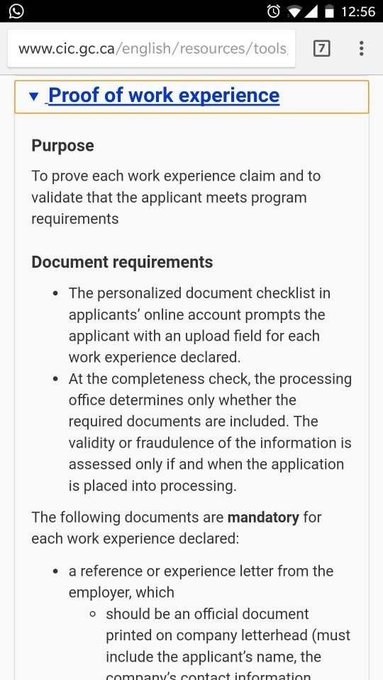 What is the format in which previous work experience shall be what is the format in which previous work experience shall be submitted for canada express entry program quora spiritdancerdesigns Image collections