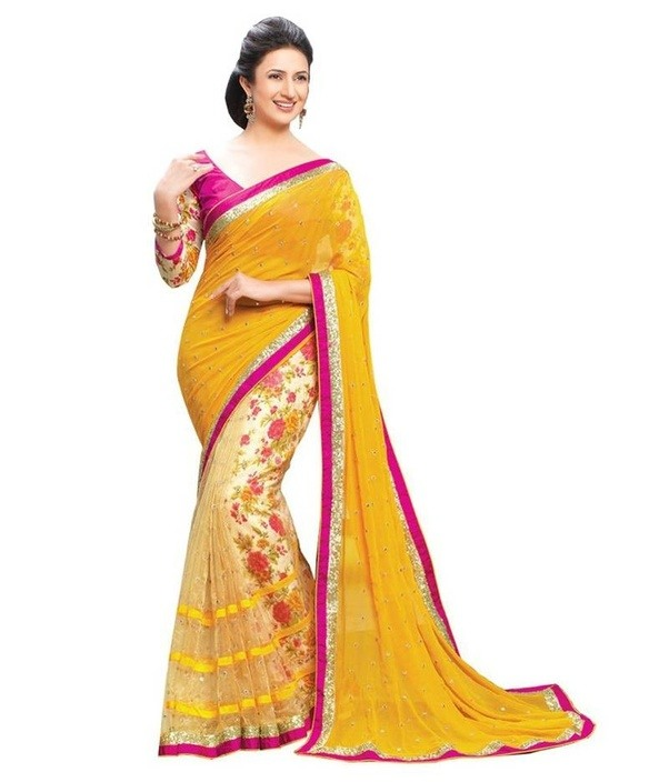 You Can Wear Red Green Dark Blueyellow Black And White Blouse With Your Yellow Color Saree Clueless About What To Buy