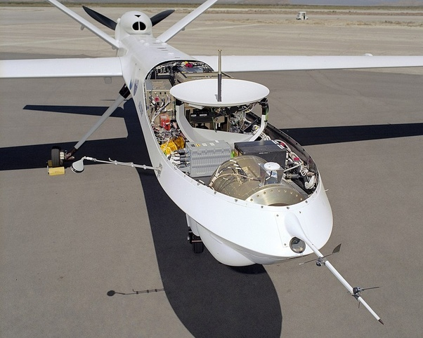 Why do larger drones have the propeller in the rear? - Quora