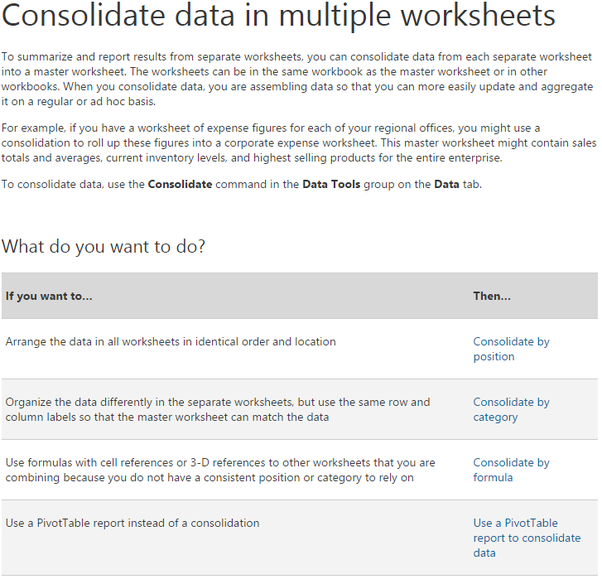 What Does The Consolidate Tool Do In Excel Quora