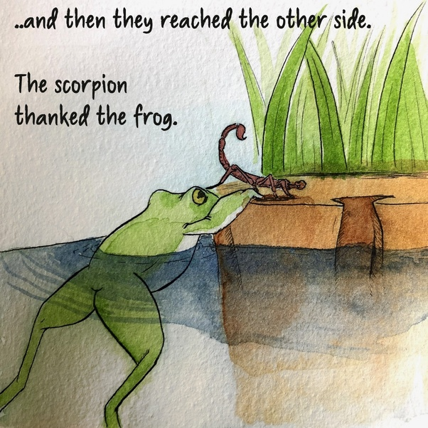 Story frog the scorpion and the The Scorpion