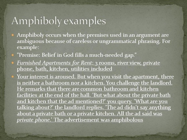 What Is Amphiboly What Are Some Examples Quora