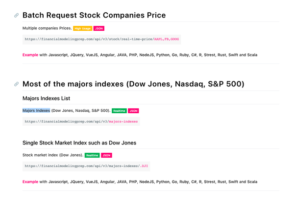 Does NASDAQ or any other stock exchange have an stock feed