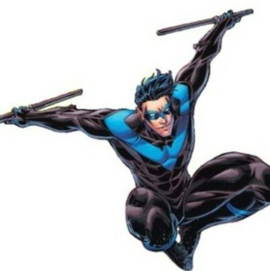 Dick Grayson (Nightwing) was the first Robin. He founded the Teen Titans. He grew up adopted the name Nightwing and a new costume ...  sc 1 st  Quora & How can Robin and Nightwing be in the same show and team (Teen ...