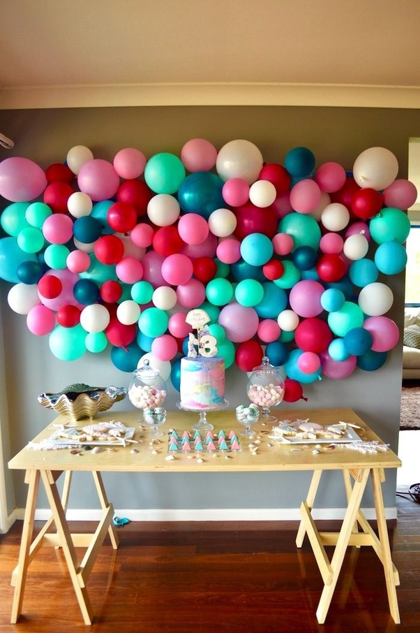 Birthday Balloon Backdrop: Who Said You Cannot Have Photo Booth Corner At  Home. This Balloon Decoration Ideas Will Change Your Mind.