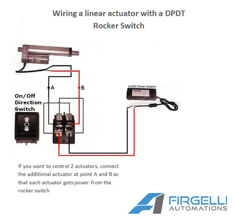 Two Directions for Linear Actuators Joystick Switch Momentary