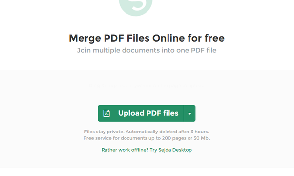 merge various pdf files into one