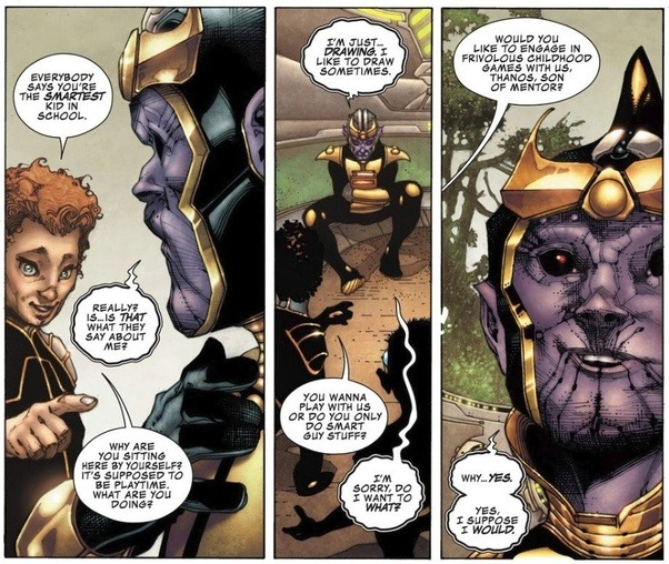 what inspiration can one take from the marvel character thanos in