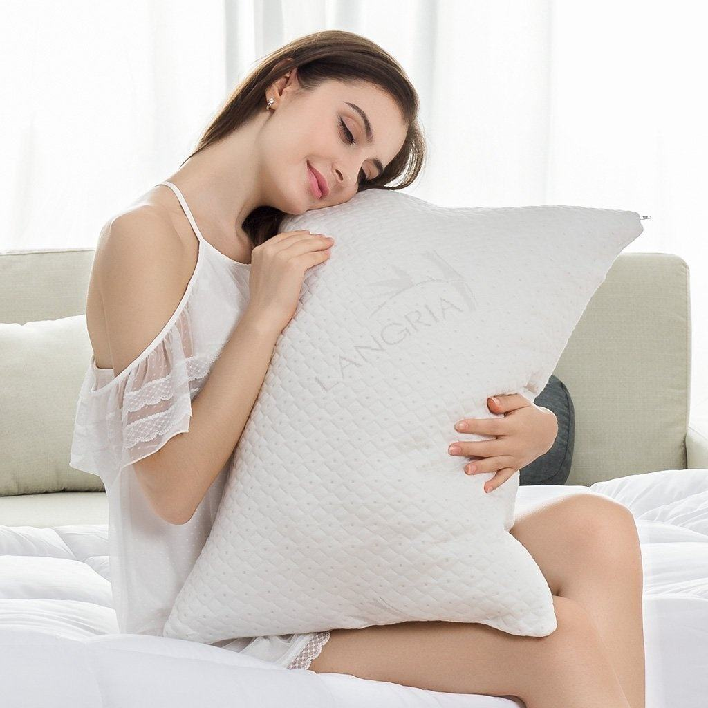 Bed Pillow Which Makes It Possible For You Toaccess The High Quality Shredded Memory Foam Of Your To Tuck Or Remove Some Fillings