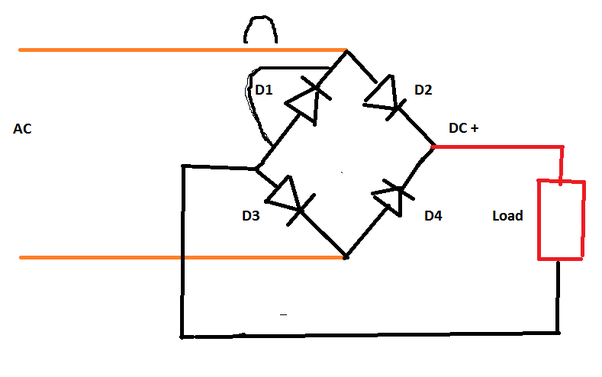 In a bridge rectifier circuit, what happens if one of the ... Rapid Rectifier Wiring Diagram on