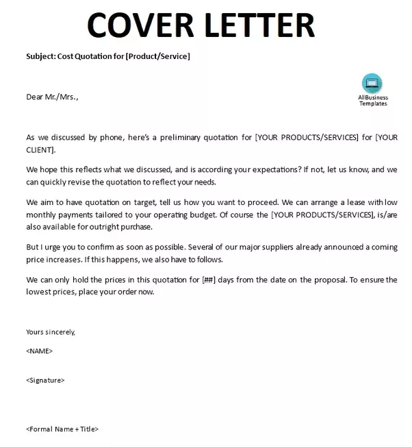 What is the purpose of a cover letter quora for How to do a proper cover letter