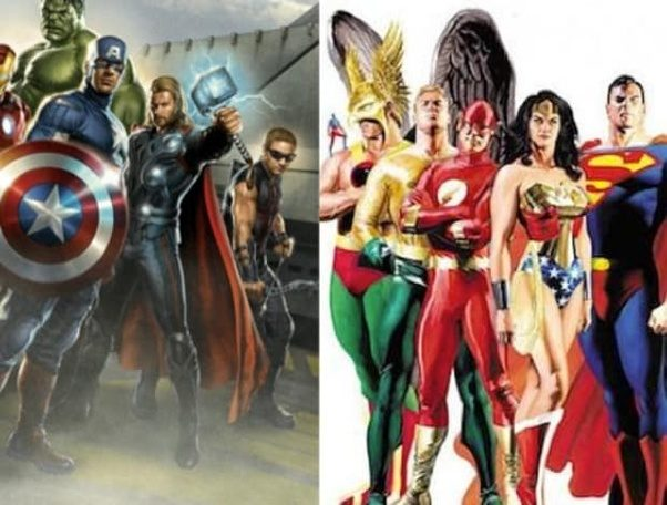 and the fact that pic showcases my all time favorites has noooothing to do with anything i swear - Avengers Vs Justice League