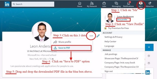 how to download my linkedin profile as pdf document quora