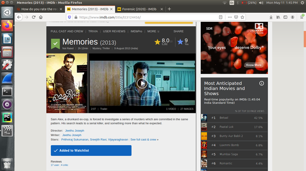 How To Rate The Recently Released Movie Forensic A Malayalam Movie Among Other Movies In The Same Genre Quora