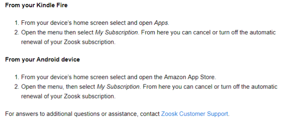 How to unsubscribe to zoosk on itunes