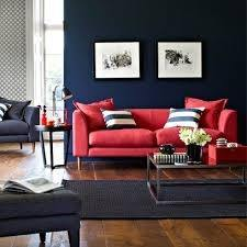 Behind Sofa With Dark Blue Color All The Wall Of Will Make Your Room So Paint Only One Keep Cushions Containing