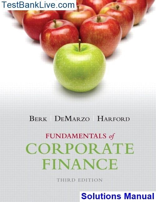 Fundamentals Of Corporate Finance 2nd Edition Pdf