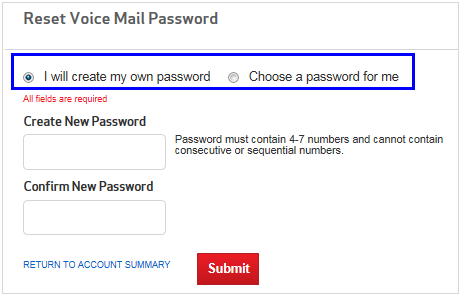 How to reset my voicemail password with verizon quora select one of these options and then click submit m4hsunfo