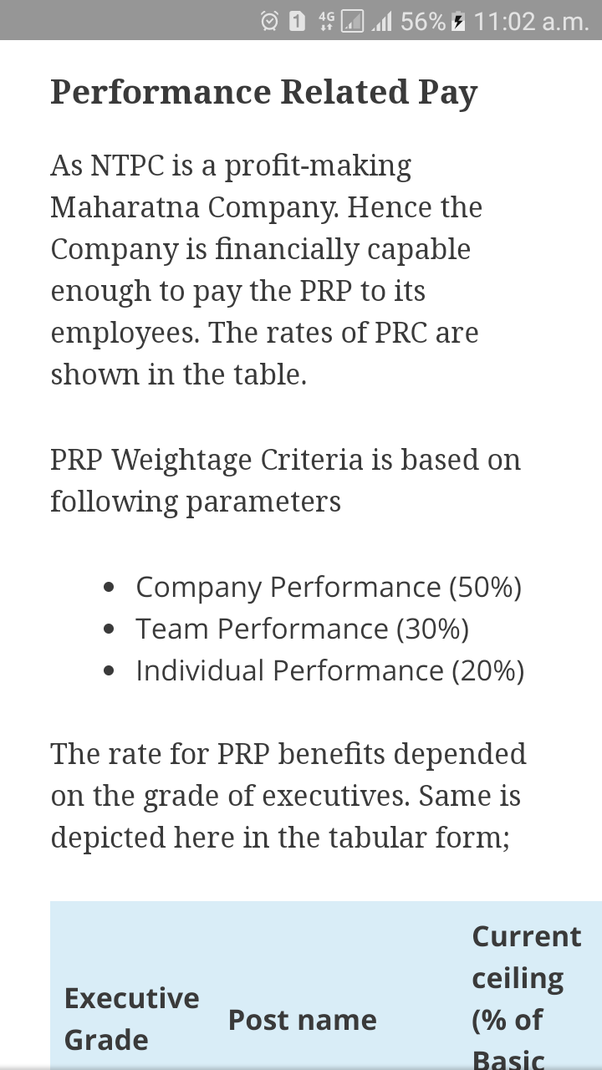 What is the salary in NTPC in 2018? - Quora