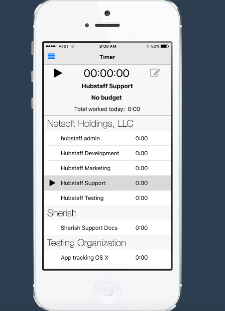 is there a mobile or web app for work time tracking that keeps track
