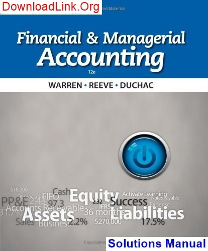 Financial accounting 16th edition williams solutions manual.
