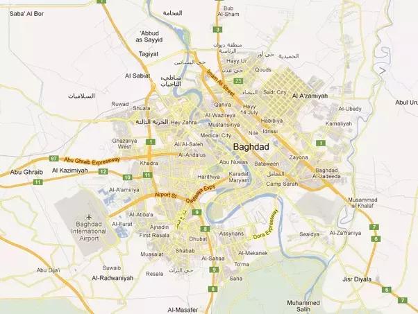 baghdad on google maps