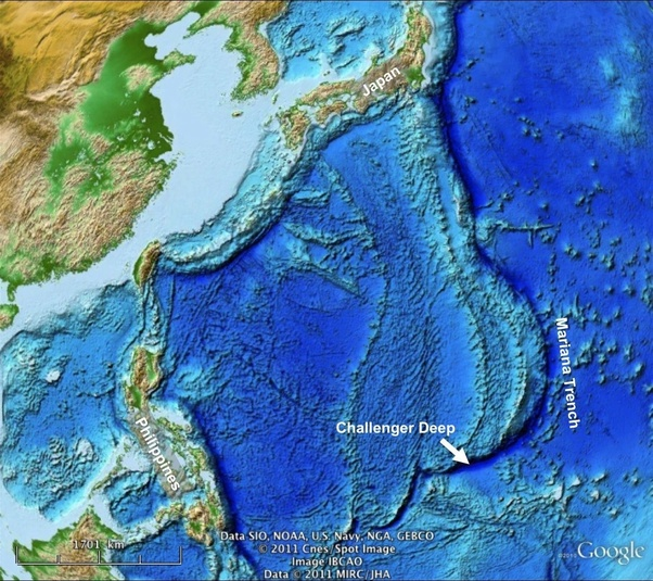 pacific ocean depth map What Is The Maximum Depth Of Sea Ocean On Earth Quora pacific ocean depth map