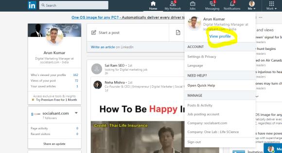 Customize the LinkedIn profile URL | Linkedin URL shorter