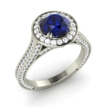 setting a ring engagement rings brilliant floral this image center cooper the jeff can c with round cut diamond shows