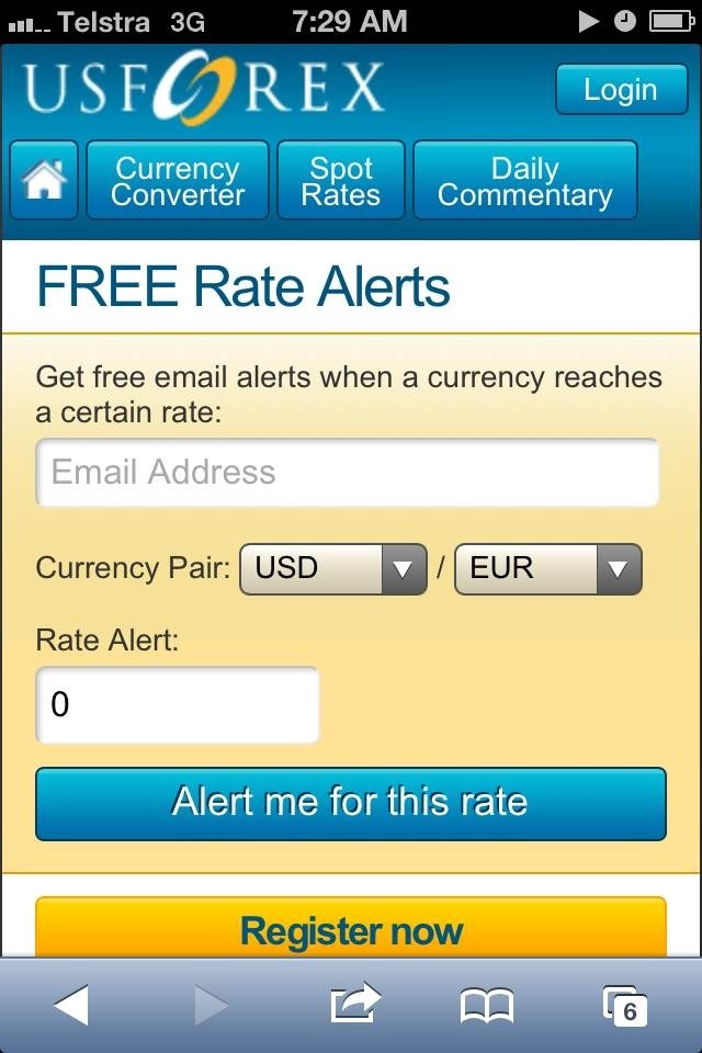 You Can Sign Up For Rate Alerts At Www Usforex If Are Not Us Based There Various Other Country Specific Platforms In The Same Group Of