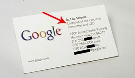 What do google business cards look like quora i have acquired a few different google employee business cards over the years they are simply designed for example heres an old card from eric schmidt friedricerecipe