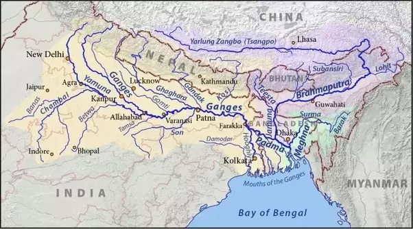 Is Ganga The Longest River Of India Or The Brahmaputra Quora - Two longest rivers in the world