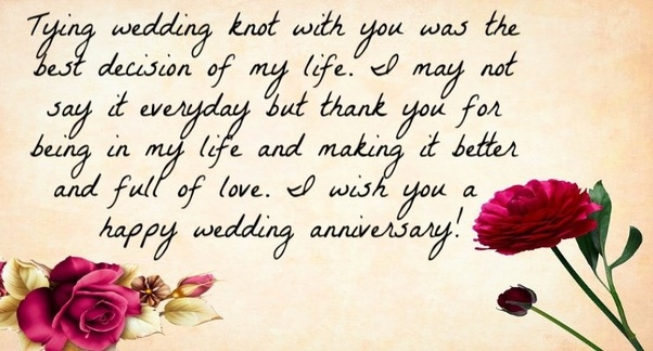 What is a good wedding anniversary wish? - Quora