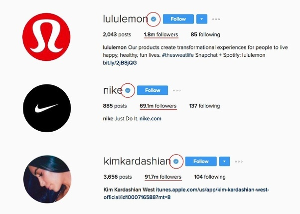 What Does The Blue Tick Mark Beside The Names In Instagram Mean Quora
