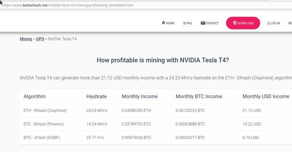 nvidia tesla bitcoin mineraria