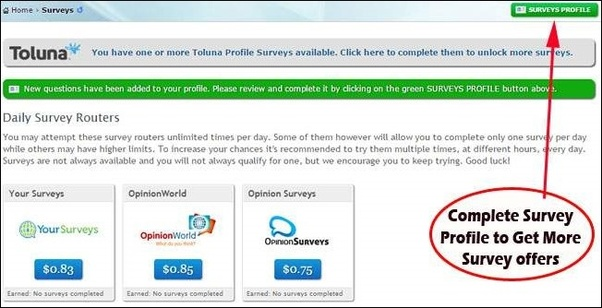 Whats the easiest way to make money online quora you need to complete your survey profile to get more survey offers from different companies you can find survey profile link on the top right fandeluxe Image collections