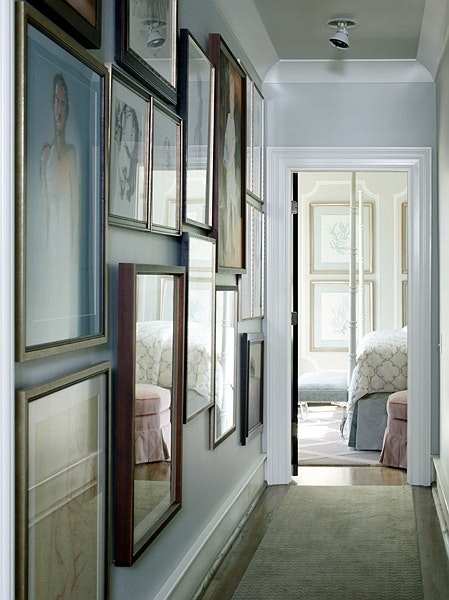How Should I Decorate The Freakishly Long Narrow Hallway Of My Apartment It S Too To Put In A Shoe Bench Comfortably And Is About 20 30 Feet