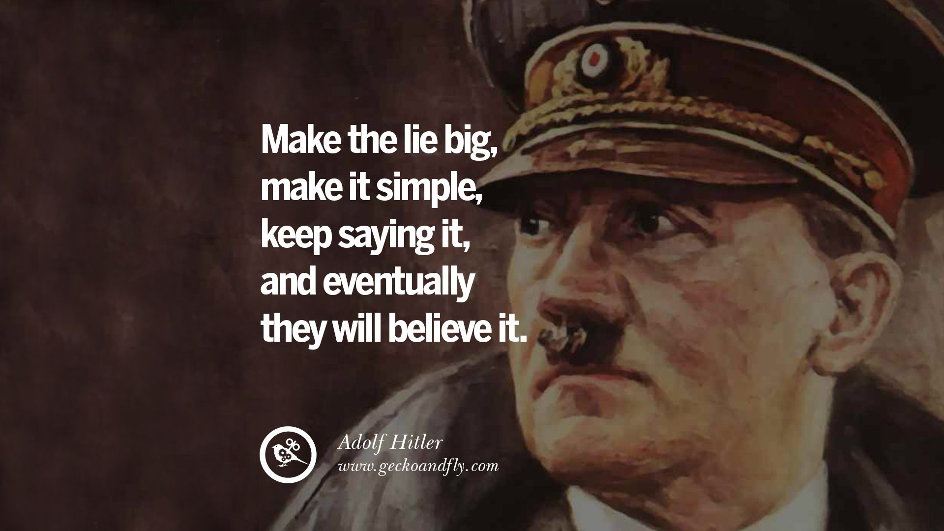 Image result for CULT LEADER HITLER PROPAGANDA QUOTE LIE
