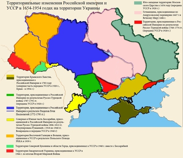 territorial expansion of russia and changes on the territory of ukraine 1654 1954 note the navy green area in the east as it was part of russia before