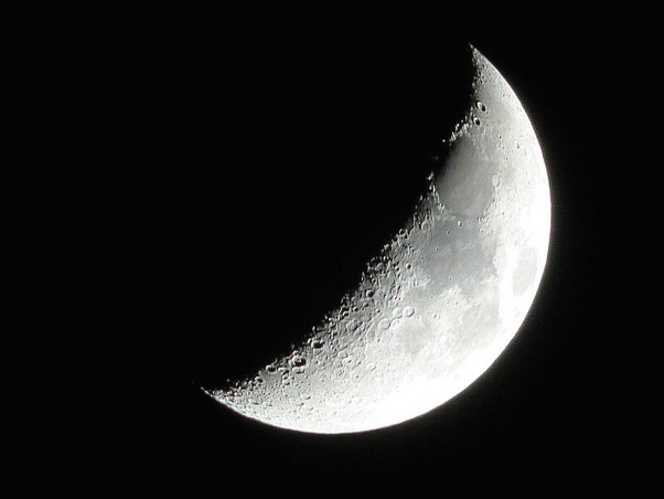Why can a crescent moon not be seen at midnight? - Quora