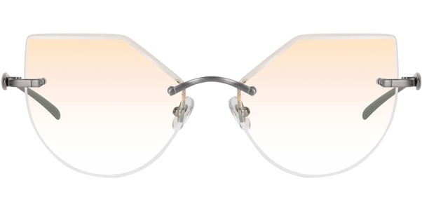 bb08059aae Classic gradient yellow lenses with fine cut rimless and elegant angles
