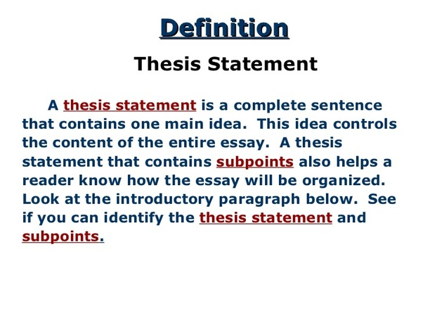 Thesis | Definition of Thesis at blogger.com