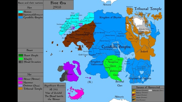 Are there any political maps of Tamriel, as of the second Elder ...